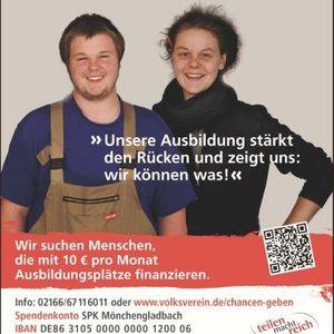 """Jana Dumins und Manuel Kemmer unterstützen die Kampagne """"Teilen und Chancen geben""""."""