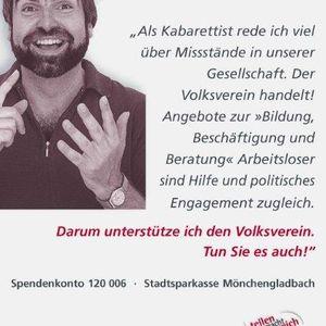 Volker Pispers unterstützt die Testimonial Kampagne.
