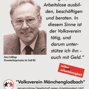 Ehrenoberbürgermeister Heinz Feldhege unterstützt die Testimonial Kampagne.