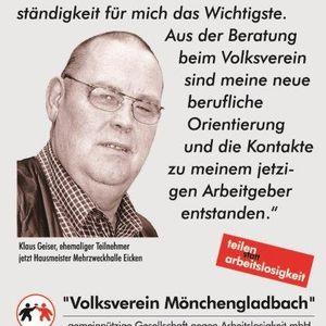 Klaus Geiser unterstützt die Testimonial Kampagne.
