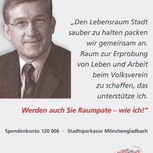 """Eugen Viehof unterstützte die Kampagne """"Mehr Raum""""."""