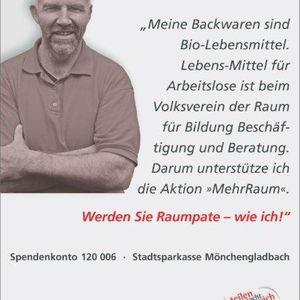 """Hans Öhmen unterstützte die Kampagne """"Mehr Raum""""."""