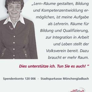 """Irmgard Meurer unterstützte die Kampagne """"Mehr Raum""""."""