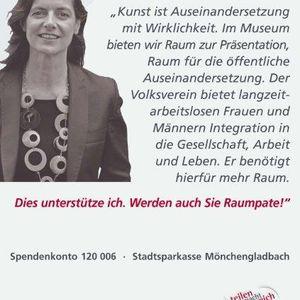 """Susanne Titz unterstützte die Kampagne """"Mehr Raum""""."""
