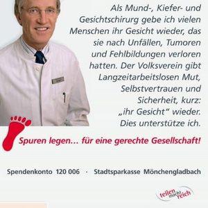 """Prof. Dr. Johannes Hidding unterstützte die Kampagne """" Spuren legen für eine gerechte Gesellschaft""""."""