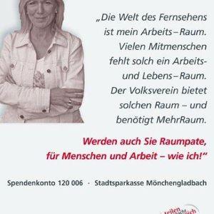 """Ulrike von der Groeben unterstützte die Kampagne """"Mehr Raum""""."""