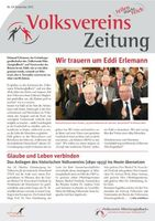 Das Titelblatt der Volksvereinszeitung ist abgebildet