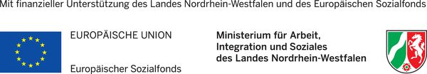 Aus Mitteln der EU und dem Ministerium für Arbeit, Integration und Soziales des Landes NRW